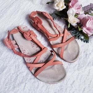 Merrell Brand Strappy Walking Sandals Coral sz 10